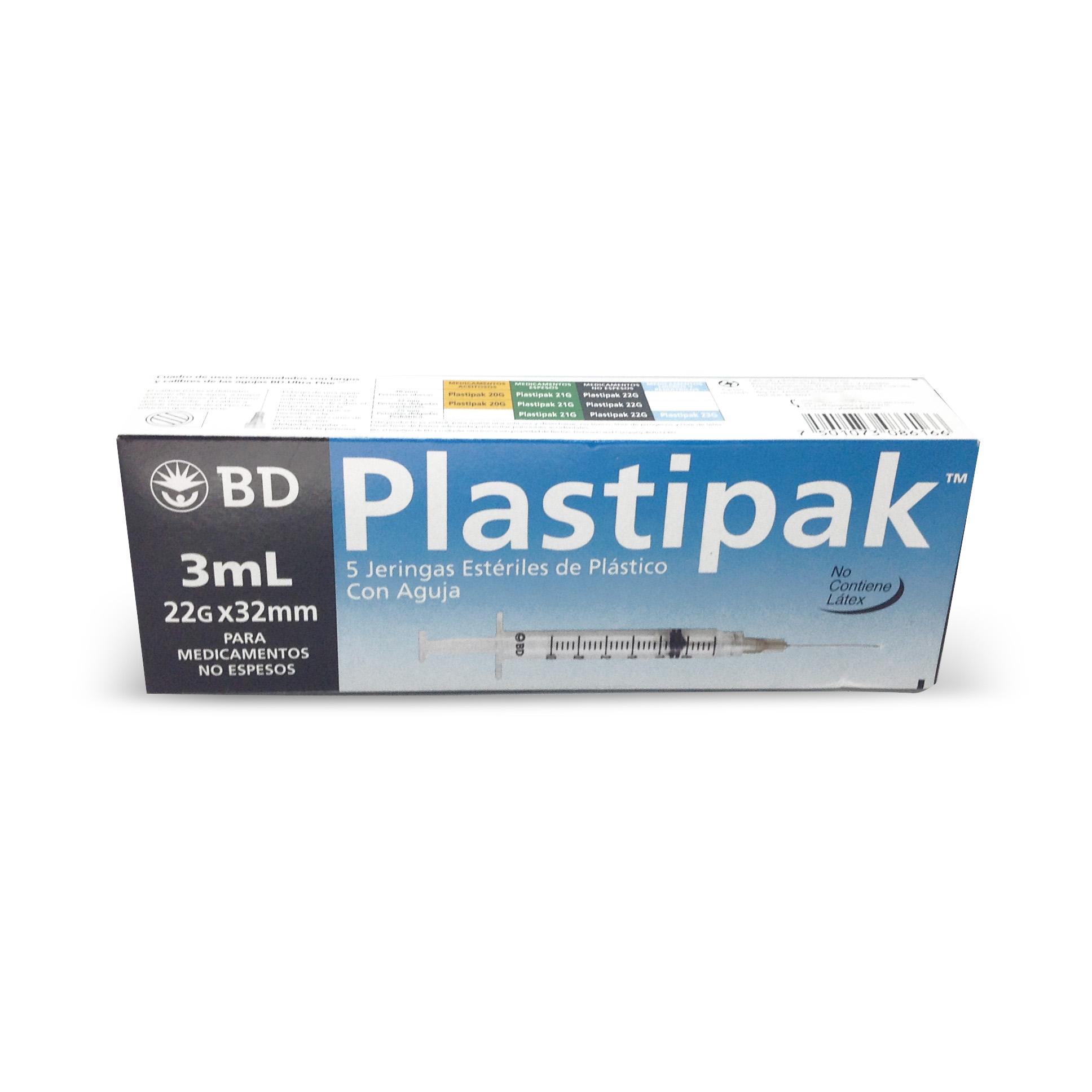 BD Plastipak 3ml 22g x 32mm